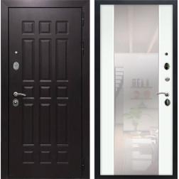 Входная дверь Армада Сенатор 8 с Зеркалом СБ-16 (Венге / Ясень белый)