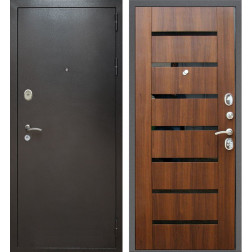 Входная дверь Армада Титан (Антик серебро / Орех бренди)