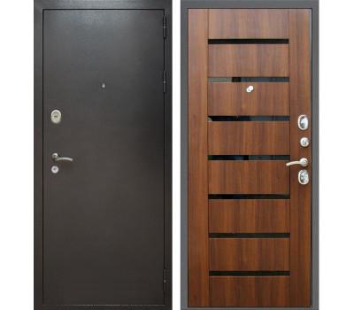 Входная металлическая дверь Армада Титан (Антик серебро / Орех бренди)