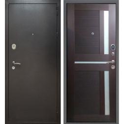 Входная дверь Армада Титан СБ-18 (Антик Серебро / Орех темный)