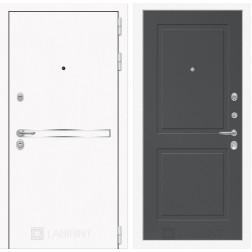 Входная дверь Лабиринт Line White 11 (Шагрень белая / Графит софт)