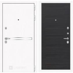 Входная металлическая дверь Лабиринт Line White 14 (Шагрень белая / ЭкоВенге)