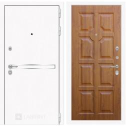 Входная дверь Лабиринт Line White 17 (Шагрень белая / Золотой дуб)
