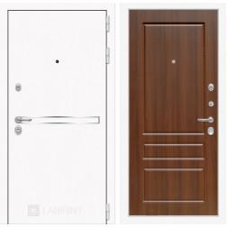 Входная дверь Лабиринт Line White 3 (Шагрень белая / Орех бренди)