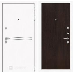 Входная металлическая дверь Лабиринт Line White 5 (Шагрень белая / Венге)