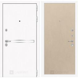 Входная дверь Лабиринт Line White 5 (Шагрень белая / Венге светлый)